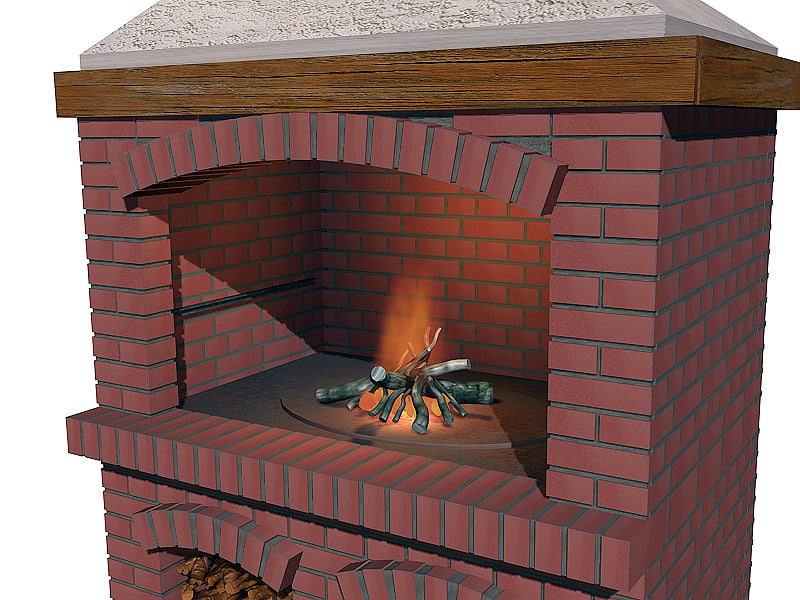 3d model outdoor barbecue