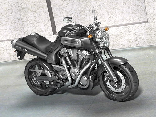 yamaha mt-01 sport 3d model