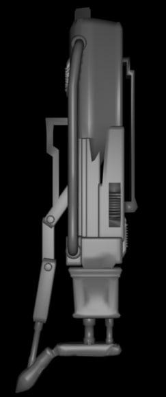 3d polies sci fi model