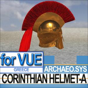 3d model greek corinthian helmet