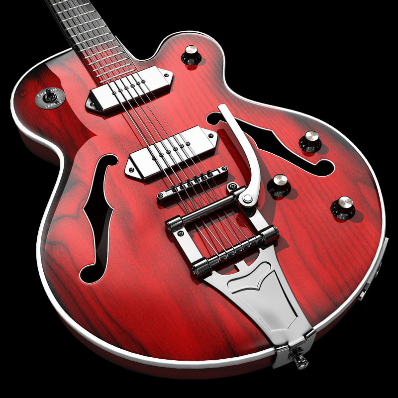 3d model wildkat guitar