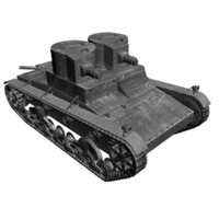 bolivian vicker 1939 tanks 3d model