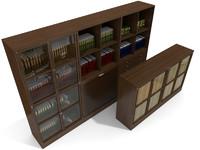 3ds max bookcases ceccotti