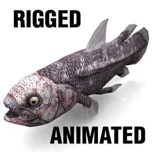 coelacanth animation 3d model