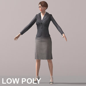 business woman character 3d model