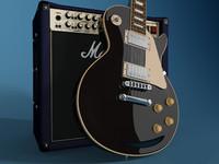 3d model of gibson les amplifier guitar