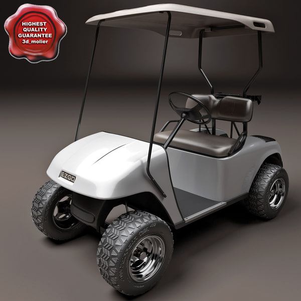 golf car ezgo 3d model