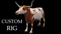 Texas Longhorn - Rigged