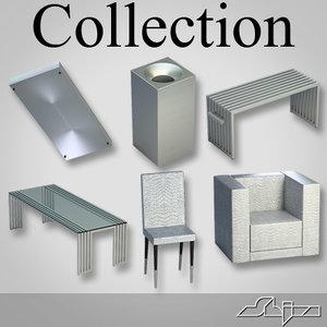 modern furniture 3d 3ds