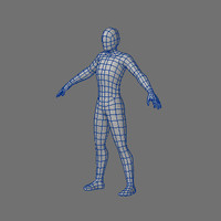 Low Poly Base Mesh-Male