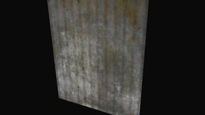 free obj model generic metal sheet