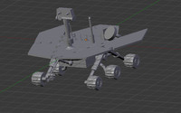 moon rover 3d model