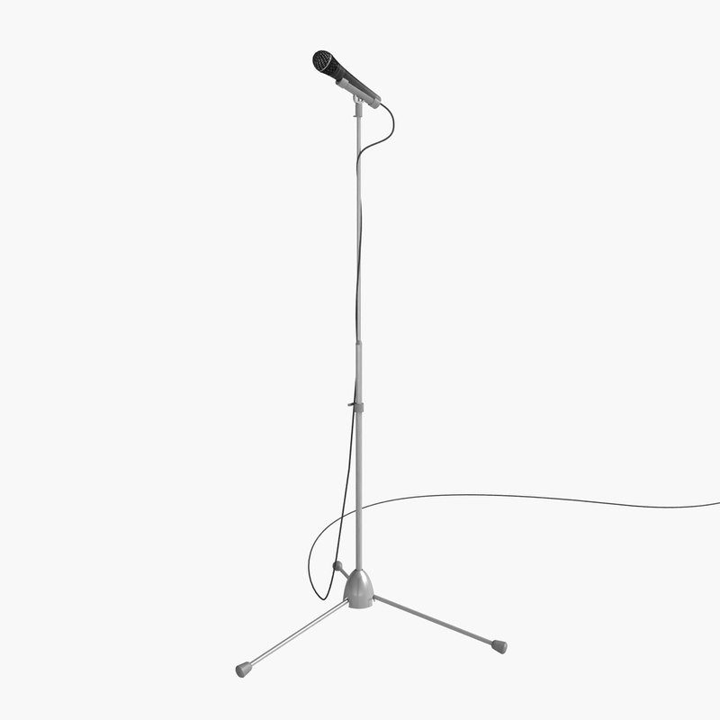stage microphone 3d model