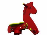 playground spring rocking horse 3d model