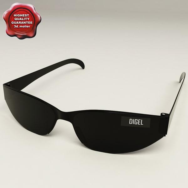 3d model sunglasses v2 glass