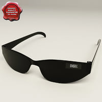 3d model sunglasses v2 glass