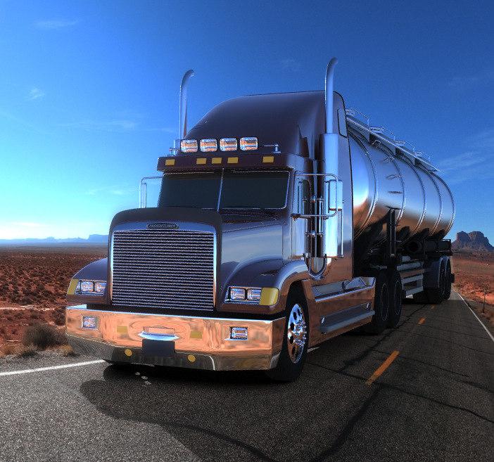 freightliner truck 3d model