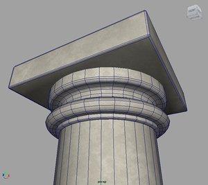 free roman doric column 3d model