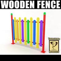 wooden fence 3d obj