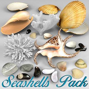 seashells corals 3d model