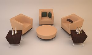 3ds max arcadia achelle lounge chair