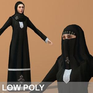 3d arab woman character model