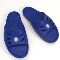 3d sport slippers model