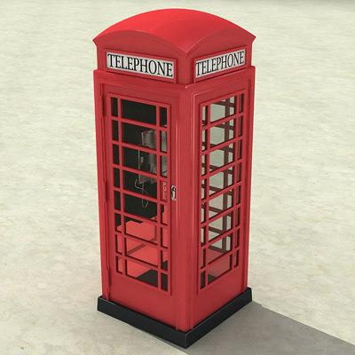phone cabin 3d model
