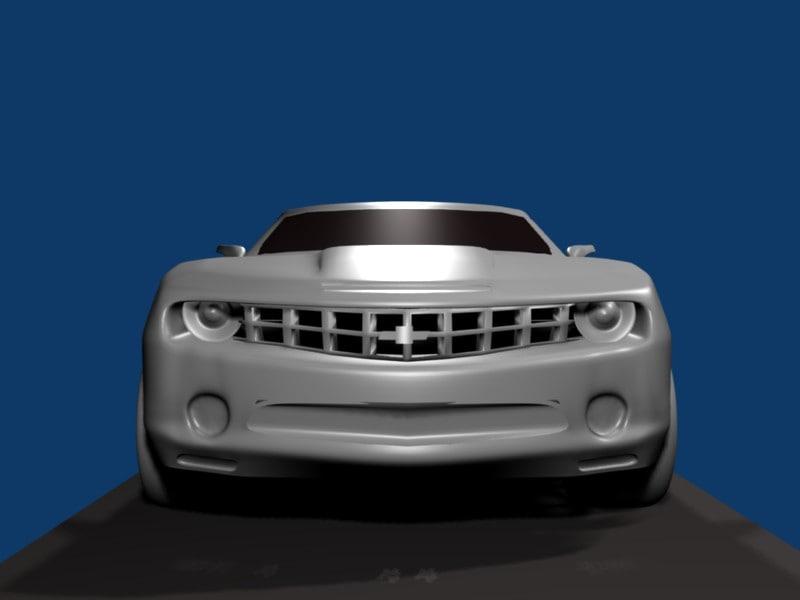 blender car camaro