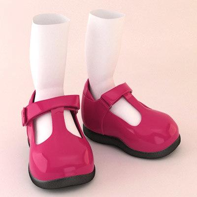 shoes toon cartoon 3d model