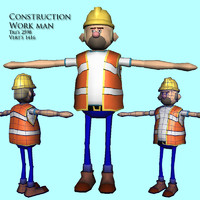 3d man character construction model