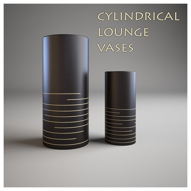 cylindrical vases 3d model