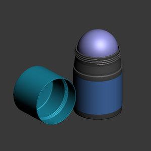 3d deodorant roller model