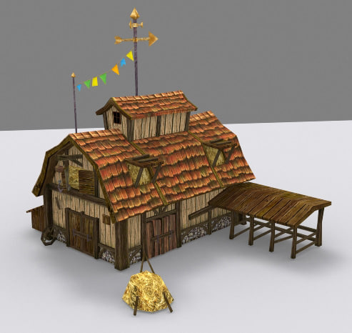 medieval fantasy farmhouse 3d max