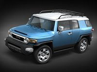 toyota fj cruiser suv 3d model