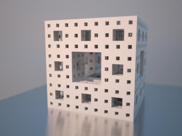 3d model of menger cube