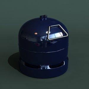 3dsmax gas bottle