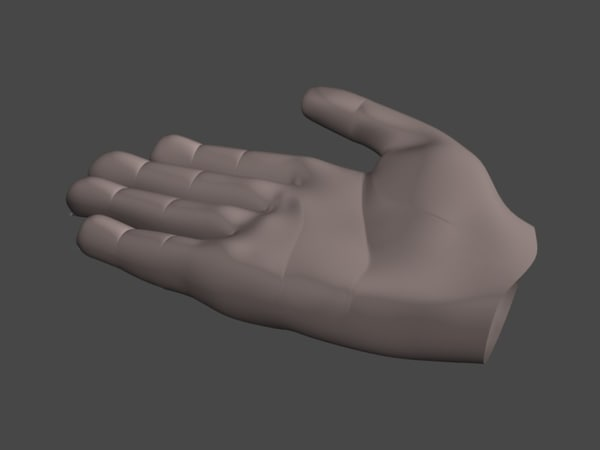 3d obj human hand