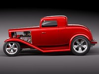 hot rod 32 multiple 3d model