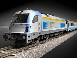 3ds max taurus train locomotive