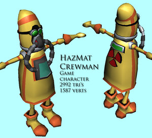 hazmat character workman 3d obj