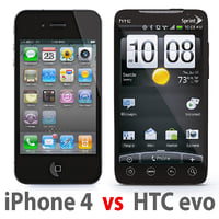 iPhone 4G vs HTC evo