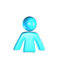 simple man icon 3d max