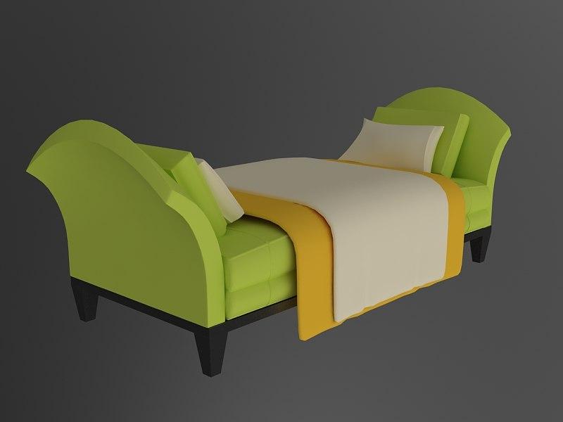 3d model of sofa 3