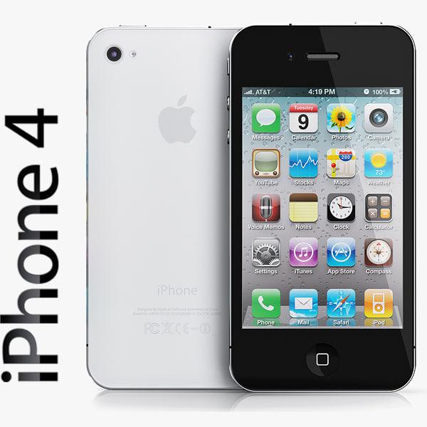 copy iphone 4 black 3d model