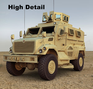 maxxpro military vehicle 3d model