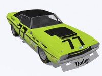 3d model dodge challenger ta race car
