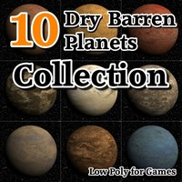 10 dry barren planets 3d model