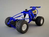 3d lego technic car model