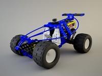 3d lego technic car model